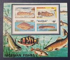 NIGERIA 1991 SHEET IMPERF - NIGERIAN FISH FISHES FISHERIES POISSONS - RARE MNH - Nigeria (1961-...)