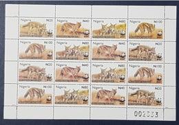 NIGERIA 2003 WWF SHEET IMPERF - JACKAL - RARE MNH - Nigeria (1961-...)