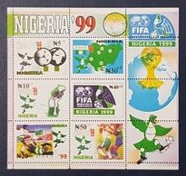 NIGERIA 1999 BLOCK BLOC BF SHEET  - FIFA YOUTH FOOTBALL SOCCER CHAMPIONSHIP CUP MAP BIRDS  - RARE MNH - Nigeria (1961-...)