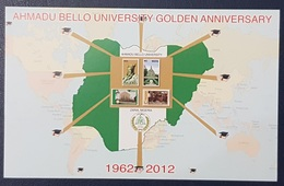 ¤ OFFER ¤ NIGERIA 2012 BLOCK BLOC BF SHEET  - AHMADU BELLO UNIVERSITY GOLDEN ANNIVERSARY - RARE MNH - Nigeria (1961-...)