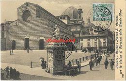 Firenze - Chiesa E Piazza S.Lorenzo Con La Statua Di Giovanni Delle Bande Nere - Firenze