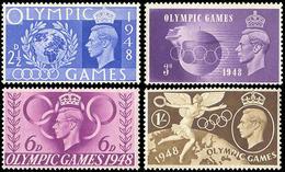 ** Great Britain - 1948 - Olympic Games 1948 - Mi. 237-40 - Estate 1948: Londra