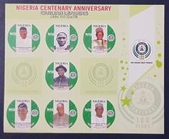 NIGERIA 2014 SHEET BLOC BLOCK BF SS  - CENTENARY ANNIVERSARY CIVILIAN LEADERS 100 YEARS - RARE MNH - Nigeria (1961-...)