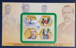 NIGERIA 2014 SHEET BLOC BLOCK BF SS  - CENTENARY ANNIVERSARY 100 YEARS - RARE MNH - Nigeria (1961-...)