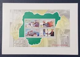 NIGERIA 2016 SHEET BLOC BLOCK BF SS  - ANTI CORRUPTION COMPAIGN - RARE MNH - Nigeria (1961-...)