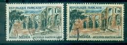 FRANCE N° 1318 MEDEA Variété MONUMENT VERT AU LIEU DE OCRE TB - Variétés: 1960-69 Oblitérés