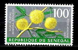 SÉNÉGAL Aer59** 100f Gris, Jaune Et Vert Fleurs Diverses Acacia - Senegal (1960-...)