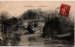 Lourdes - Le Château - Pseudo-entier Avec Semeuse Et Oblitération Toulouse-gare - Private Stationery