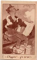 CPFM 1940 - L'hygiène ! ... Y'a Qu'ça - édit. ABC - Joë Bridge - !!! Papier Collé Au Verso - Marcofilia (sobres)