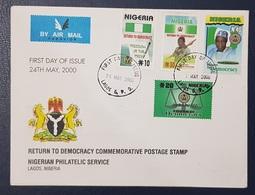 NIGERIA FDC - 2000 RETURN TO DEMOCRACY - RARE - Nigeria (1961-...)