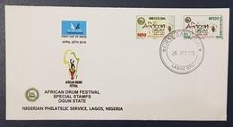 NIGERIA FDC - 2019 AFRICAN DRUM FESTIVAL - RARE - Nigeria (1961-...)