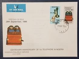 NIGERIA FDC - 1995 FIRST TELEPHONE IN NIGERIA - RARE - Nigeria (1961-...)