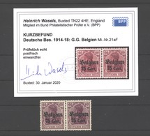 Belgien,21aF,xx,Befund - Besetzungen 1914-18