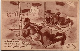 CPFM 1940 -  édit. ABC - Nous Encore, On Est Planqués - Carrizey - Cartes De Franchise Militaire