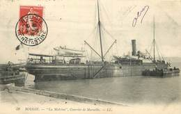 """BOUGIE - """"la Malvina"""", Courrier De Marseille. - Paquebots"""