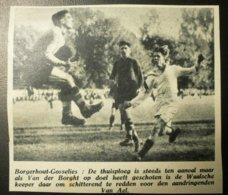 Borgerhout-Gosselies : Voetbal 1947 - Documents Historiques