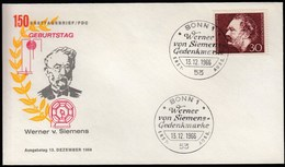 Germany Bonn 1966 / Werner Von Siemens / Pioneer Of The Electro Industry / FDC - Celebrità
