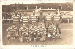 Dépt 34 - SÈTE - Football F. C. Sète 1936-37 - (Raafat, Llense, Sintès, Koraayi, Petrak, Danzèele..) - Chewing-gum GLOBO - Sete (Cette)