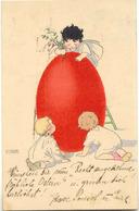 Pauli EBNER - Trois Enfants Et Gros Oeuf De Pâques - Ebner, Pauli