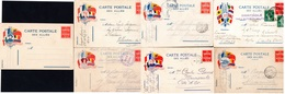 """7 CP- """" Des Alliés """"-  ( AL 1 à AL 7) - - Marcophilie (Lettres)"""