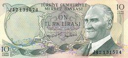 Turkey P.186  10 Lirasi 1975  Unc - Turkije