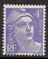 Maury 718g - 4 F Violet - Variété Lèvre Supérieure Fendue - * - 1945-54 Marianne Of Gandon