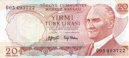 Turkey P.187  20 Lirasi 1974  Unc - Turkije