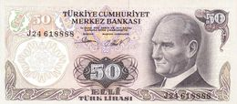 Turkey P.188 50 Lirasi 1976  Unc - Turkije