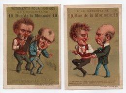 - 2 CHROMOS A LA SAMARITAINE - VÊTEMENTS POUR HOMMES - 19, Rue De La Monnaie, PARIS - - Other