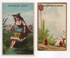 - 2 CHROMOS CHOCOLAT DEBAUVE & GALLAIS - CHOCOLAT-LOUIS - - Louit