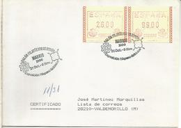 ESPAÑA EXPOSICION HISPANO BRITANICA CON ATM FRAMA PERFORADO PERFIN - 1981-90 Briefe U. Dokumente