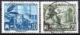 "(DDR-BM1) DDR ""Leipziger Herbstmesse 1955"" Mi 479/80 Sauber Bedarfsgestempelt - [6] Democratic Republic"