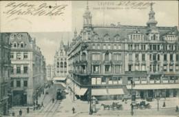 AK Leipzig Markt Mit Bismarckhaus Und Thomasgasse (32612) - Leipzig