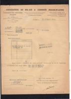 1945 Facture  / Ardoisières De Bel Air Anciennement Larivière & Cie à Combrée - 1900 – 1949