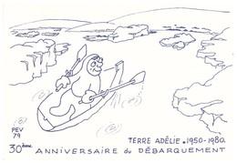 TAAF CARTE EPF 30EME ANNIVERSAIRE 31/12/1979 SIGNEE GUILLARD - Tierras Australes Y Antárticas Francesas (TAAF)