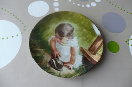 Z6 , BEAUTIFUL DECORATIVE PLATE , Painted By DANIEL ZOLAN , BACKYARD DISCOVERY - Céramiques