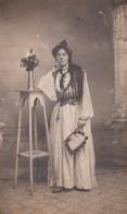 BA / JUDAICA Algérie . Carte-Photo . Portrait En Pied JUIVE D' Oran (Coiffe Typique) Photo A. PERPERE, Rue Philipe Oran - Judaisme