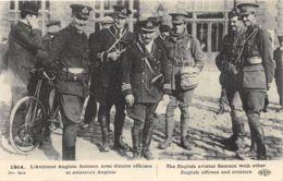 L'Aviateur Anglais Samson Avec D'autres Officiers Et Aviateurs Anglais - Guerre 1914-18