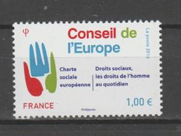 FRANCE / 2016 / Y&T SERVICE N° 168 ** : CONSEIL (Charte Sociale - Droits Sociaux) X 1 - Dienstpost