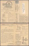 """Armoiries - N°81 + Préo """"Bruxelles 08"""" Sur Dépliant """"L. Hanoulle - Constructeur, Machines-outils, Moteurs,..."""" > Charler - 1893-1907 Wappen"""