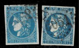 A11b-N°46 Type III Report 1 Et Report 2 Sans Défaut - 1870 Bordeaux Printing