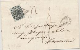 1862 STATO PONTIFICIO 6 BAY N° 7A B Isolato SU LETTERA ROMA X CAMERINO - Stato Pontificio