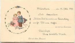 Pauli EBNER - Carte D'invitation (14 X 8 Cm) - Ebner, Pauli