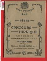 ALENCON Ville Alençon Programme Fêtes Concours Hippique 1912 Saint Rémy Publicité  Concert Aviation  Feu Artifice - Programme