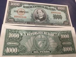 CUBA  1'000.  Pesos.  Date 1950.   P84.    UNC - Cuba