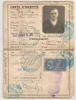 1940 CARTE D'IDENTITE CONTROLEE ET VALIDEE SEPT 1942 / POLICE D'ETAT 2EME DISTRICT SAINT GERMAIN EN LAYE  B2176 - Fiscaux