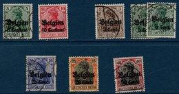 DR   Petit Lot De Timbres Oblitérés Occupation De La Belgique Entre 1914 Et 1918 - Occupation 1914-18