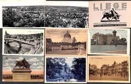 Liège - Lot 25 Cartes (carnet, Panorama, Voir Scans) - Liege