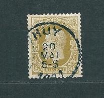 [32_0001] Zegel 32 Met Cirkelstempel Huy Scan Voor- En Achterzijde - 1869-1883 Leopold II