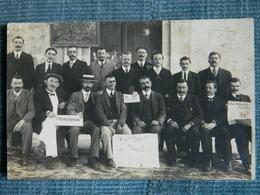 ROCHEFORT SUR MER  BOURSE DU TRAVAIL   CARTE PHOTO  XIVè CONGRES DES TRAVAILLEURS DE LA MARINE JOURNAUX  SYNDICATS 1913 - Rochefort